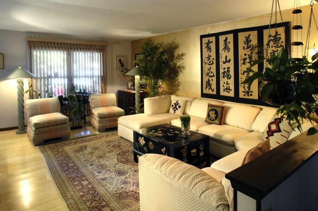 Residential feng shui to go Asian decor living room