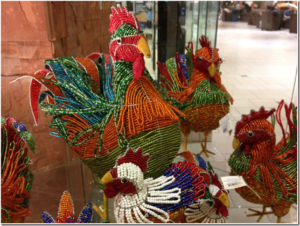 beaded chickens