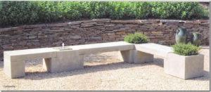 zen garden, bench